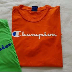 Men's Champion T-shirt - Orange M